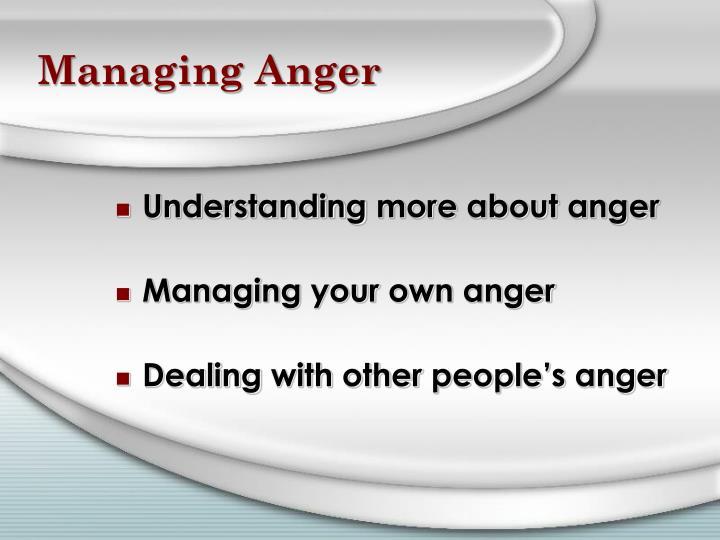 Managing Anger