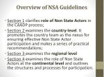 overview of nsa guidelines