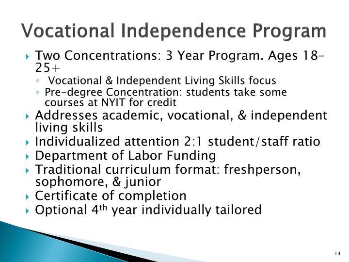 Vocational Independence Program
