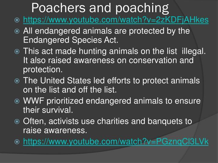 Poachers and poaching