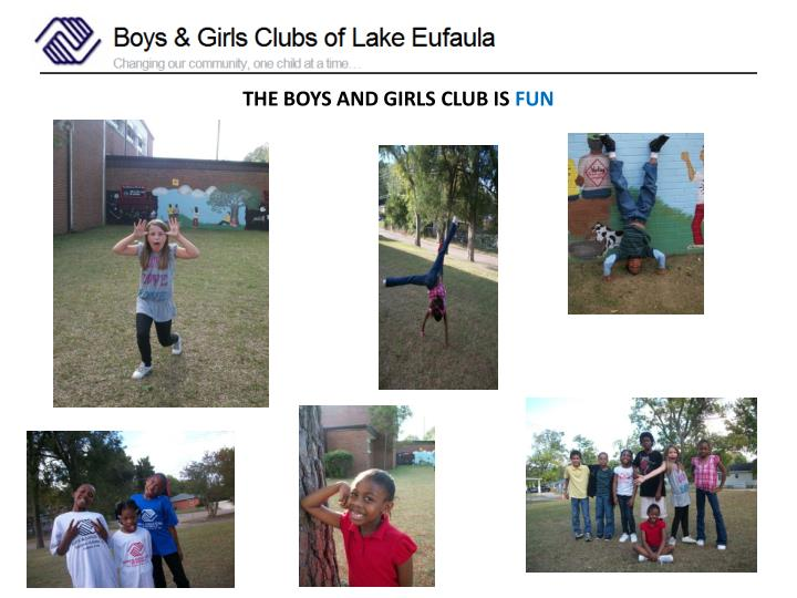 THE BOYS AND GIRLS CLUB IS
