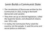lenin builds a communist state