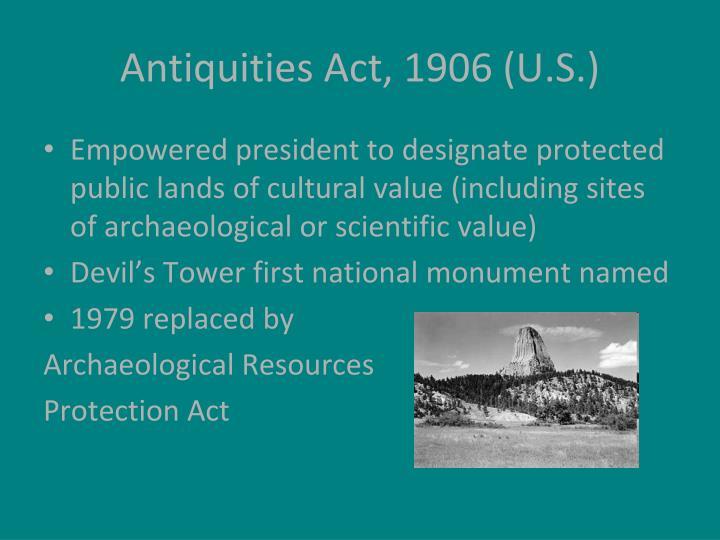 Antiquities Act, 1906 (U.S.)