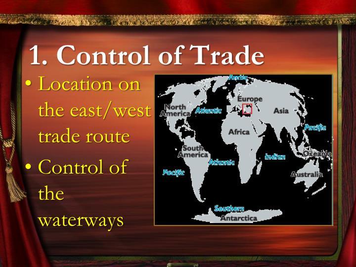 1. Control of Trade