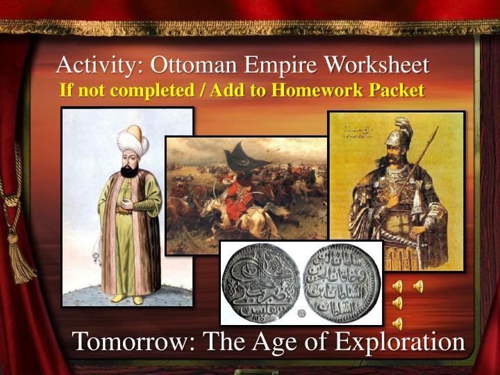 Activity: Ottoman Empire Worksheet
