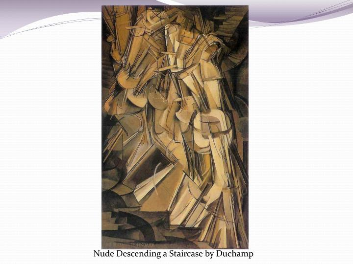 Nude Descending a Staircase by Duchamp