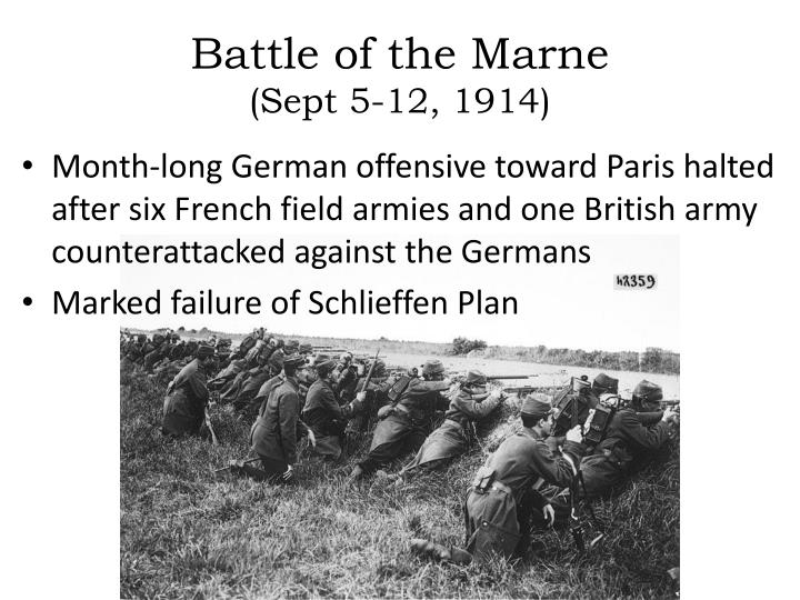 Battle of the marne sept 5 12 1914