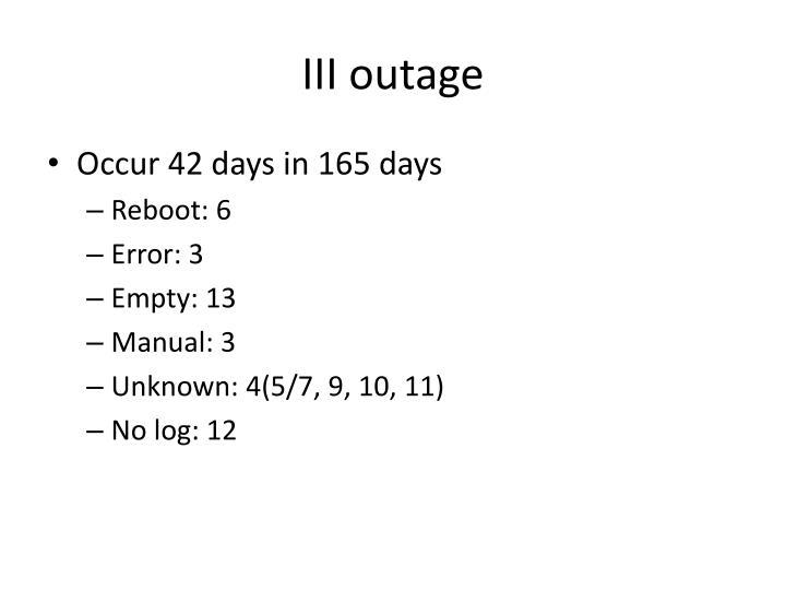 III outage