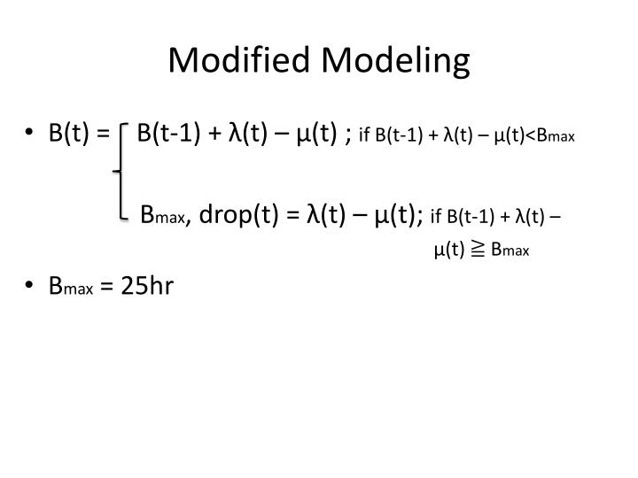 Modified Modeling