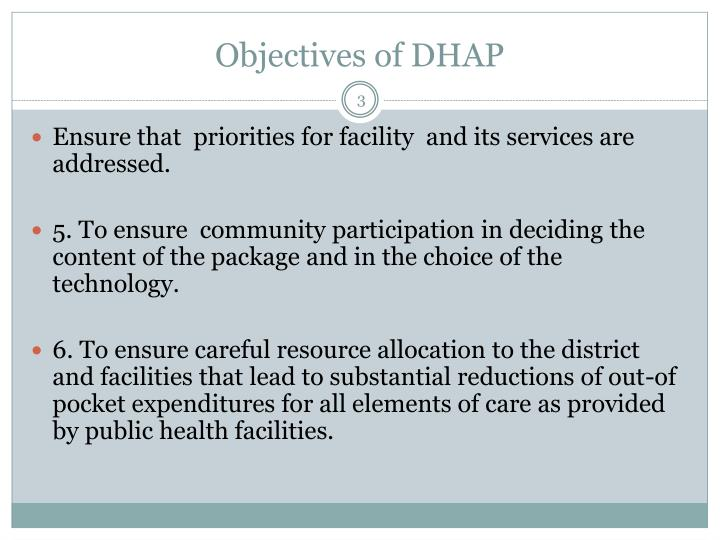 Objectives of dhap