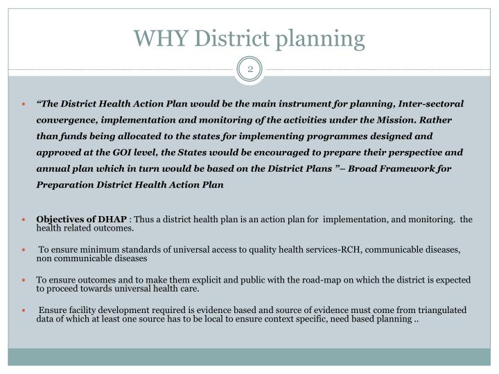Why district planning