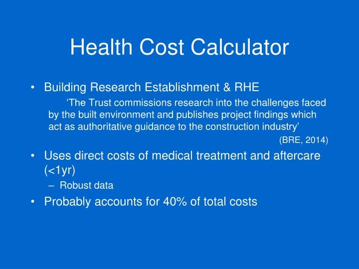 Health Cost Calculator