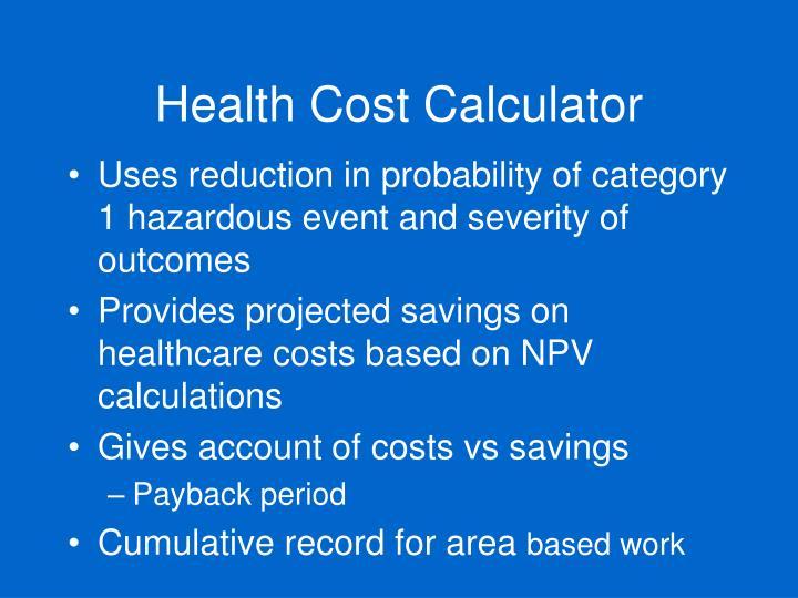 Health Cost Calculator