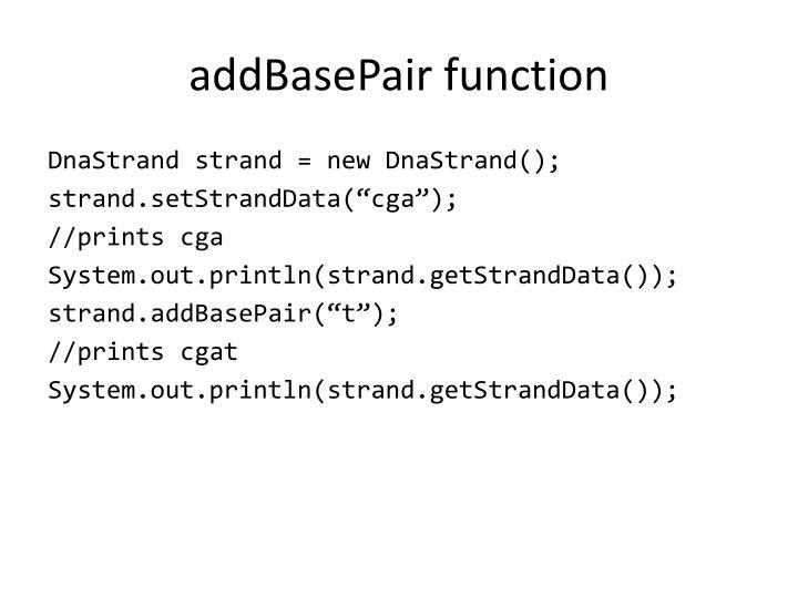 addBasePair