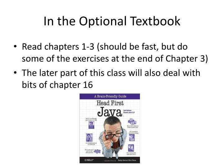 In the Optional Textbook