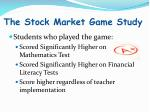 the stock market game study1
