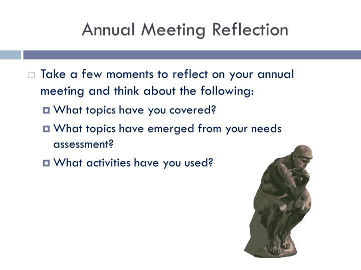 Annual Meeting Reflection