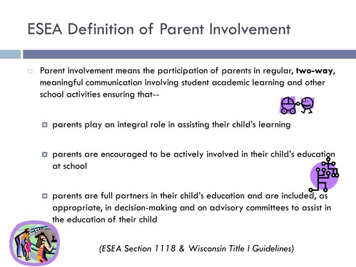 ESEA Definition of Parent Involvement