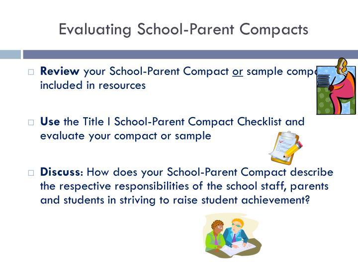 Evaluating School-Parent Compacts
