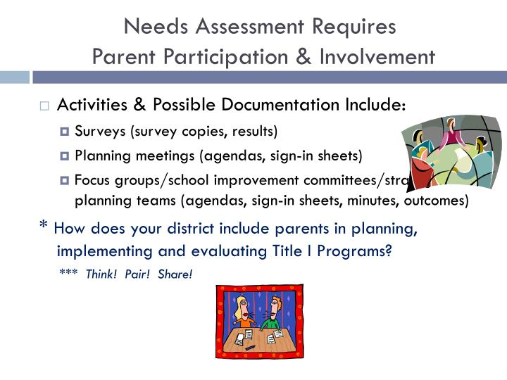 Needs Assessment Requires
