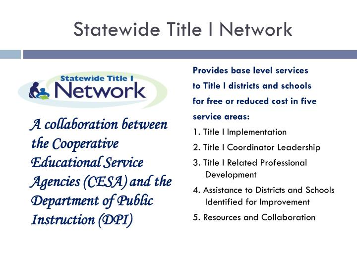 Statewide Title I Network