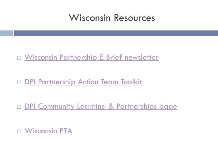 Wisconsin Resources