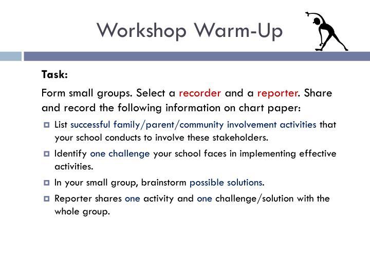 Workshop Warm-Up
