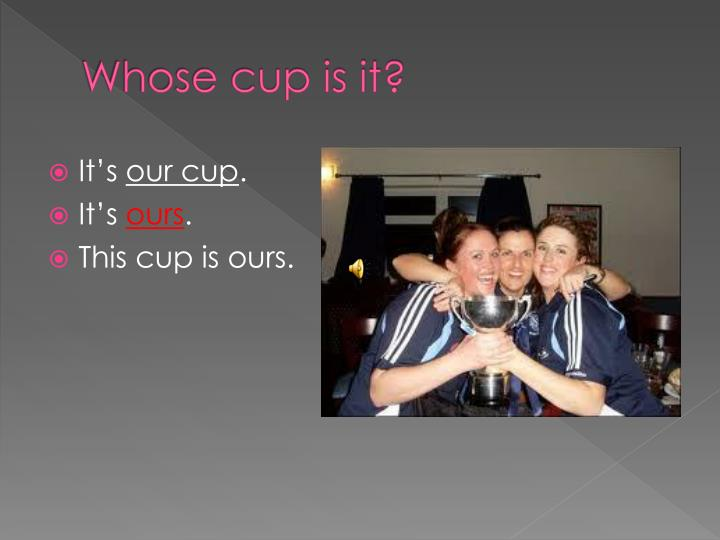 Whose cup is it?