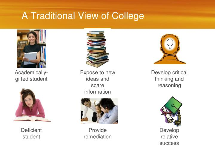 A Traditional View of College