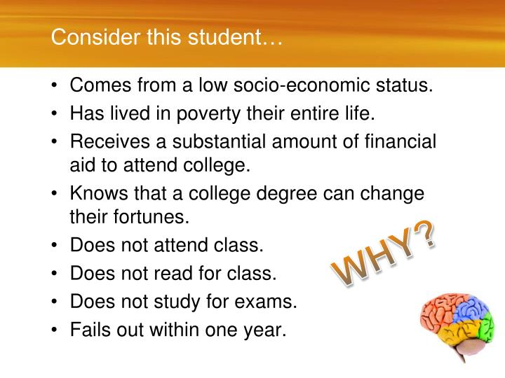 Consider this student…