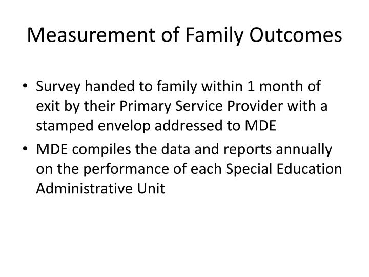 Measurement of Family Outcomes