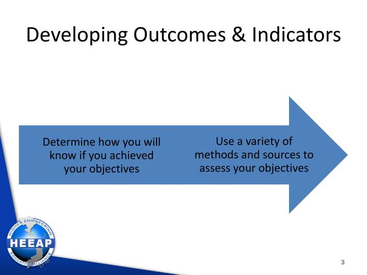 Developing Outcomes & Indicators