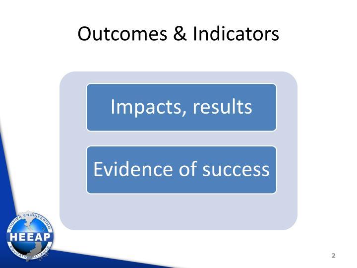 Outcomes & Indicators