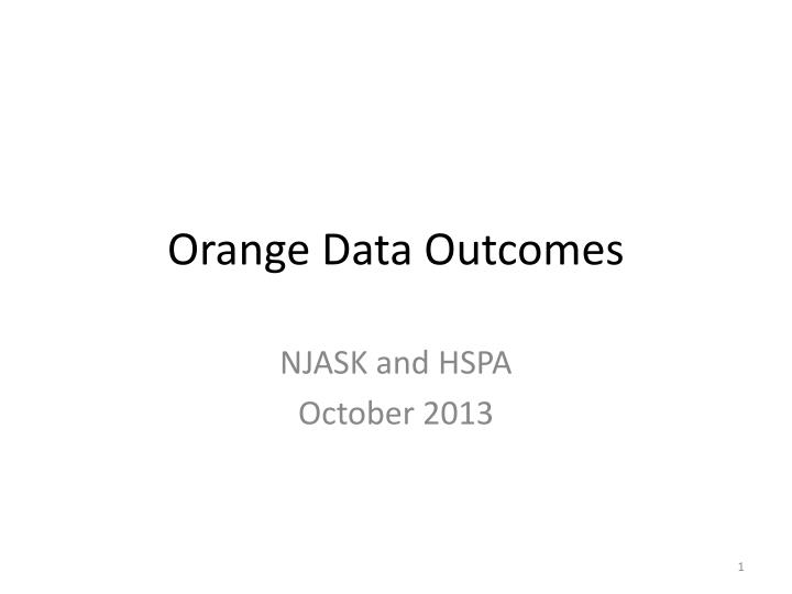 orange data outcomes