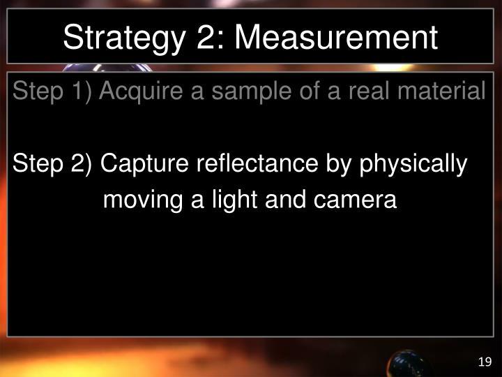 Strategy 2: Measurement