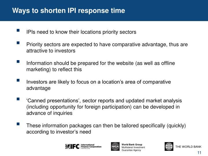 Ways to shorten IPI response time