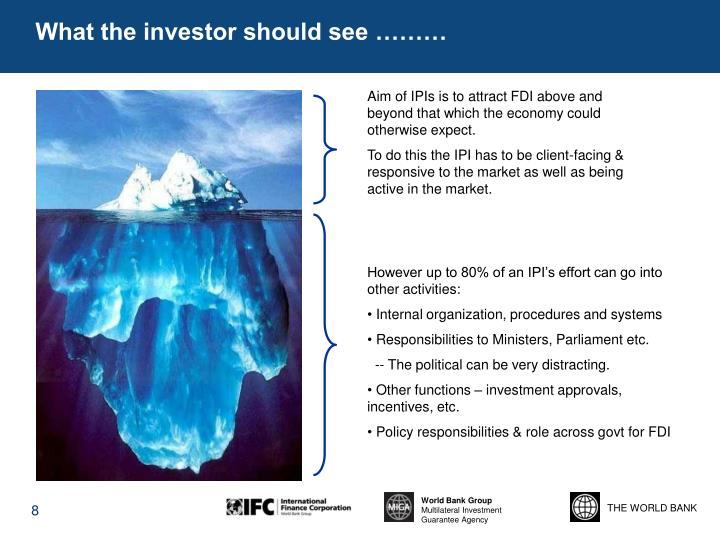 What the investor should see ………