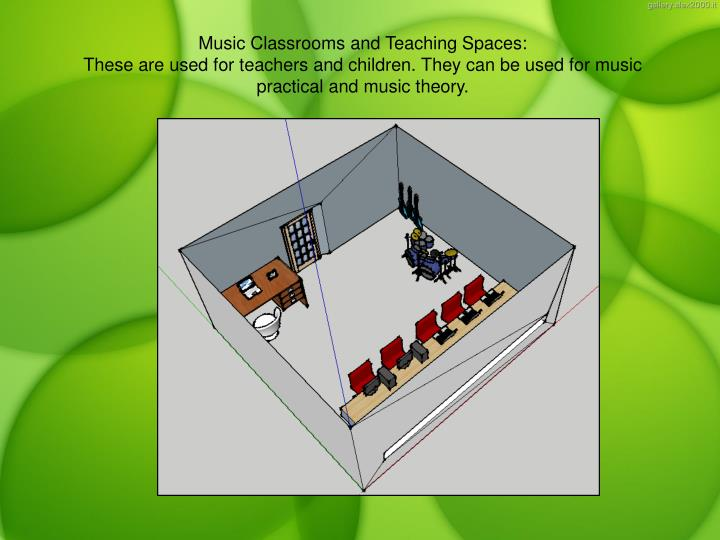 Music Classrooms and Teaching Spaces: