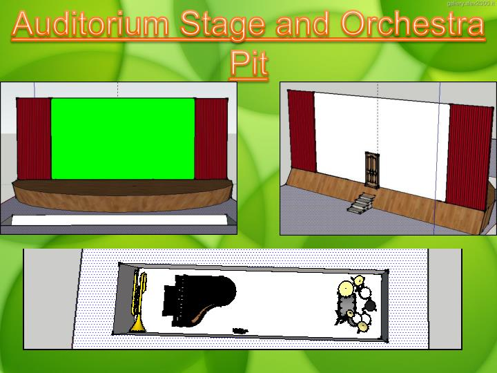 Auditorium Stage and Orchestra Pit