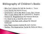 bibliography of children s books