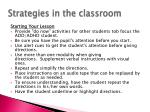 strategies in the classroom2