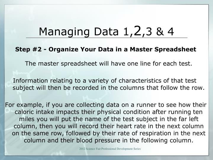 Managing Data 1,