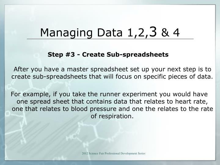 Managing Data 1,2,