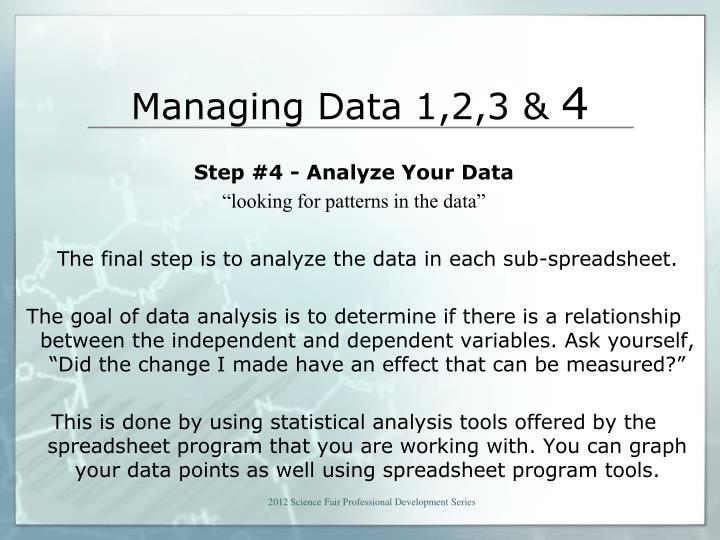 Managing Data 1,2,3 &