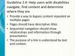 guideline 2 4 help users with disabilities navigate find content and determine where they are