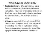 what causes mutations