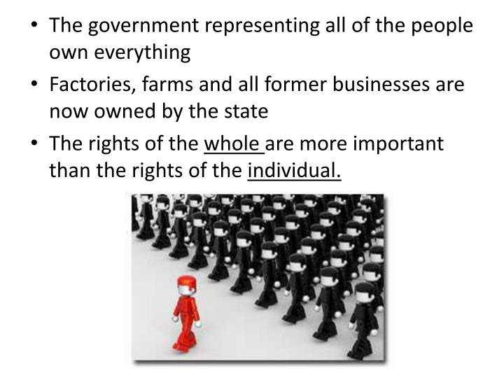 The government representing all of the people own everything