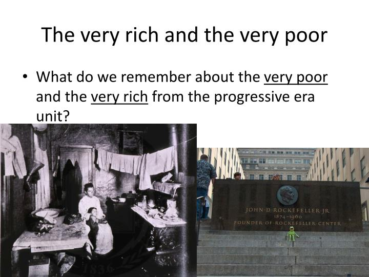 The very rich and the very poor