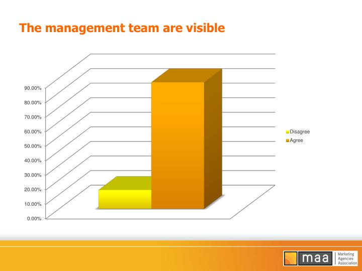 The management team are visible