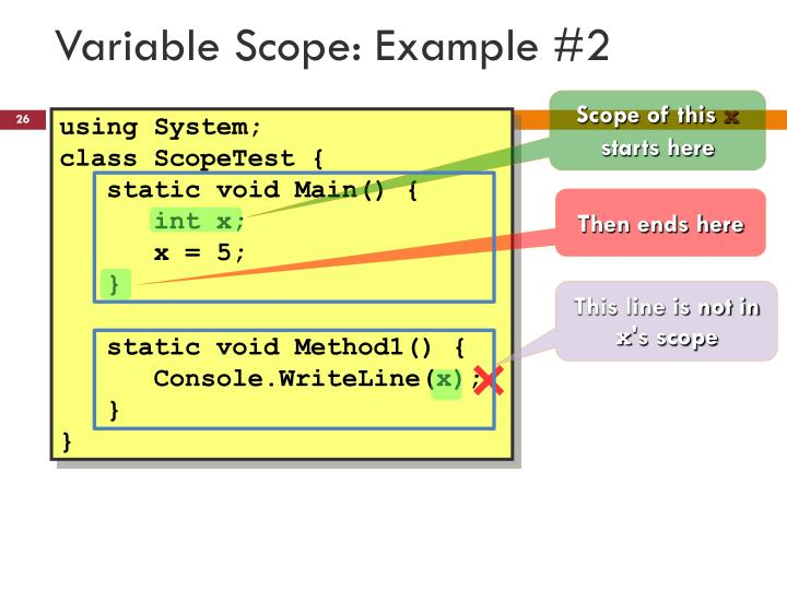 Variable Scope: Example #2